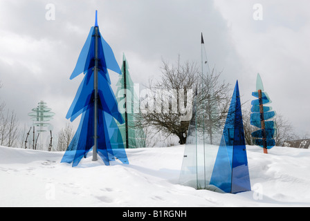 Sections of the Glaeserner Wald, Glass Forest, Regen-Weissenstein, Bavarian Forest, Lower Bavaria, Germany - Stock Photo