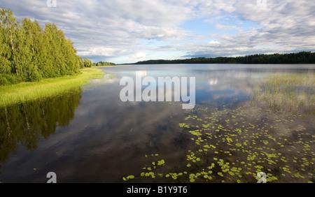 Scene from Lake Suontee Finland - Stock Photo