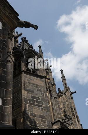 Detail  of St. Vitus' Cathedral, Prague Castle, Czech Republic - Stock Photo
