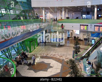 The terminal of Astana Nursultan Nazarbayev International Airport in Nur-Sultan or Nursultan called Astana until - Stock Photo