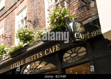 The newer Little Bettys Cafe in Stonegate, York,Yorkshire - Stock Photo