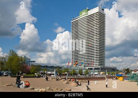 Maritim Hotel on Travemuende Beach Promenade, Schleswig-Holstein, Germany, Europe - Stock Photo