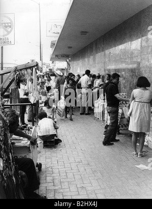 geography / travel, Mexico, Monterrey, street scenes, street trading, 1971, Additional-Rights-Clearances-NA - Stock Photo