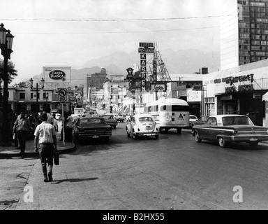 geography / travel, Mexico, Monterrey, street scenes, 1971, Additional-Rights-Clearances-NA - Stock Photo