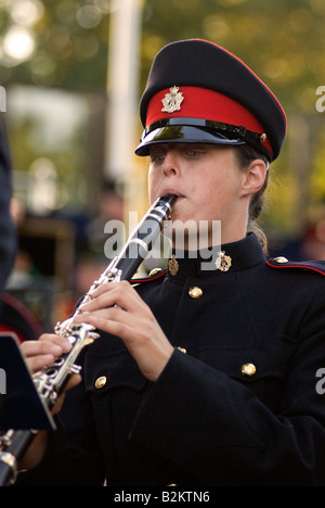 Concert in the Park Royal Military School of Music Kneller Hall Twickenham Middlesex UK Wednesday 30th July 2008 - Stock Photo