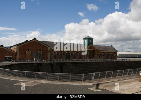 Pump house and dry dock where the SS Titanic was built - Stock Photo