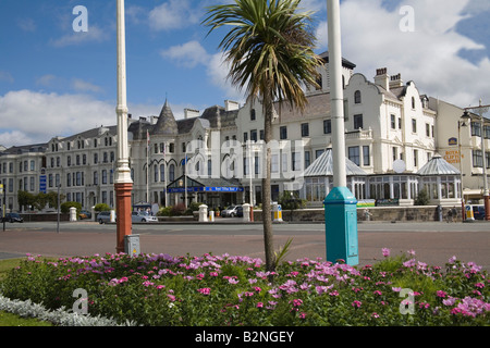 Southport Merseyside England UK July Looking across the flower beds along the promenade towards the Royal Clifton - Stock Photo