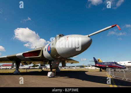 Avro Vulcan restored Farnborough Air Show 2008 - Stock Photo