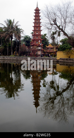 Tran Quoc Pagoda Hanoi Vietnam - Stock Photo