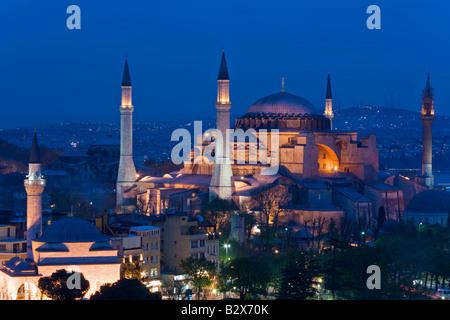 Santa Sofia Hagia Sophia Aya Sofya UNESCO World Heritage Site Istanbul Turkey Europe Eurasia - Stock Photo