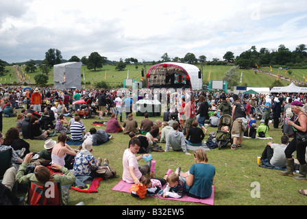 Main stage at Big Chill Festival - Stock Photo