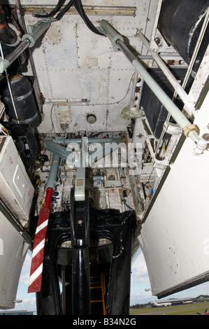 Restored Avro Vulcan Front undercarriage Farnborough Air Show 2008 - Stock Photo