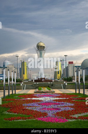 City landscape Astana capital of Kazakhstan Republic july 2008 - Stock Photo