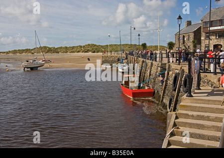 barmouth harbour in north wales - Stock Photo