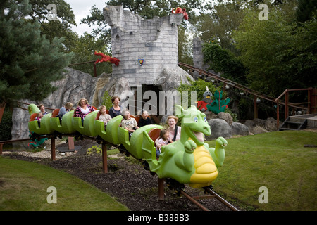 Pic shows a ride at Legoland Windsor - Stock Photo