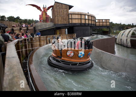 Pic Shows a ride at Legoland in Windsor - Stock Photo