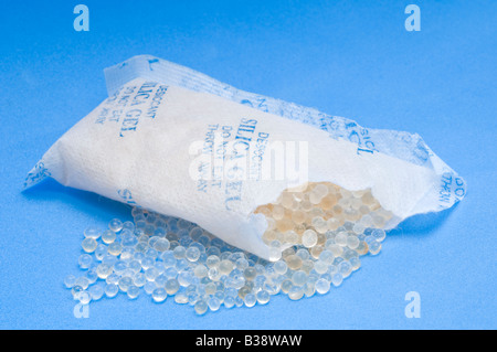 A desiccant silica gel bag - Stock Photo