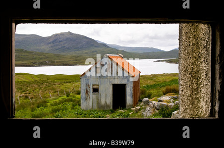 'A View through the window', Isle of Lewis, Hebrides, Scotland, UK - Stock Photo