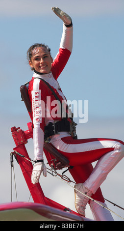 Team Guinot wingwalking display team - Stock Photo