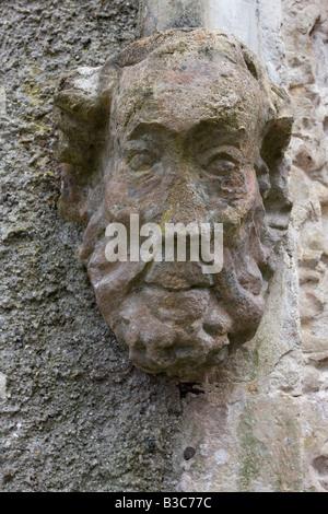 Gargoyles on the Church of St Mary and St Gabriel Stoke Gabriel Devon - Stock Photo