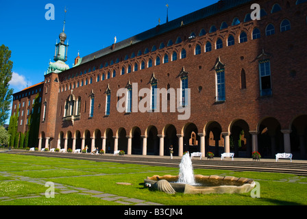 Stadshuset the Town Hall in Stockholm Sweden Europe - Stock Photo