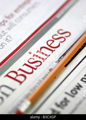 Newspapers - Business report - Stock Photo