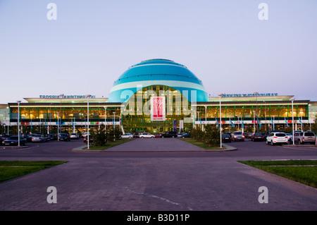 View of Astana Nursultan Nazarbayev International Airport in Nur-Sultan or Nursultan called Astana until March 2019 - Stock Photo