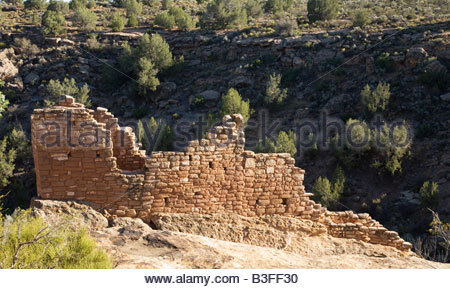 Stronghold House Hovenweep National Monument Utah Square Tower Group Puebloan era village - Stock Photo