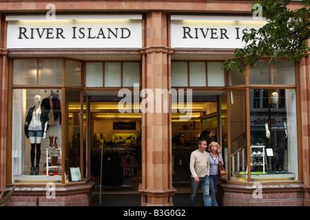 River Island store, High Street, Lincoln, England, U.K. - Stock Photo