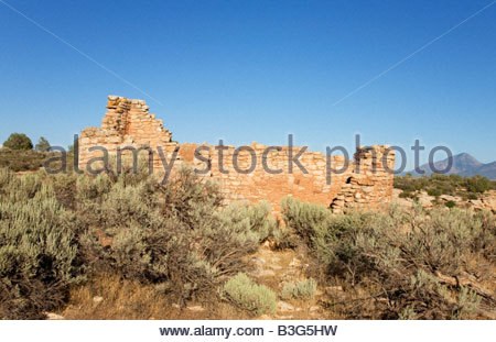 Hovenwee House Hovenweep National Monument Utah Square Tower Group Puebloan era village - Stock Photo