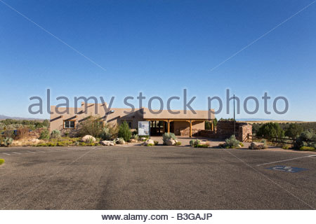 Visitor Center Hovenweep National Monument Utah Square Tower Group Puebloan era village - Stock Photo