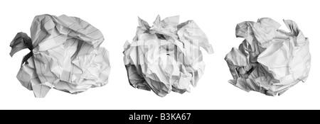 Crumpled paper balls - Stock Photo