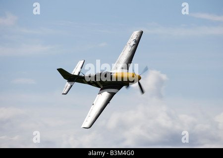 P-51D Mustang, Sywell Airshow, Northamptonshire, England, UK 2008 - Stock Photo