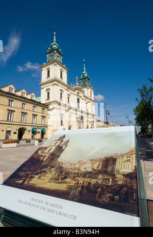 Church of the Holy Cross Warsaw - Stock Photo