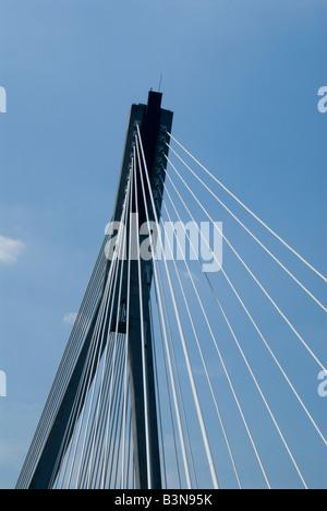 Swietokrzyski Bridge Warsaw - Stock Photo