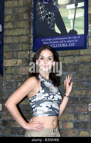 Alexandra Jay August 2001 stand in for the hit musical my fair lady at the Theatre Royal Drury Lane pictured here - Stock Photo