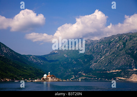 Our Lady of the Rocks Island Risan Bay of Kotor Montenegro Europe - Stock Photo