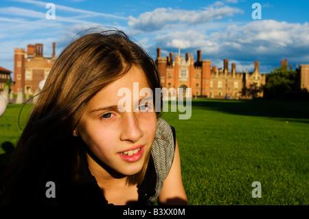 Europe UK england london hampton court girl portrait - Stock Photo