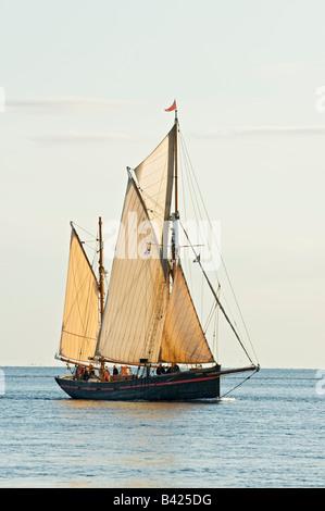 Old sailing ketch Leader Moray Firth Scotland - Stock Photo
