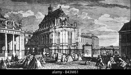 geography / travel, France, castles, Versailles, palace chapel, engraving, early 18th century, historic, historical, - Stock Photo