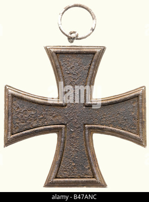 Iron Cross 1813, a Grand Cross, Prussia Blackened iron center (rusty) with silver edging. The eyelet comes with - Stock Photo