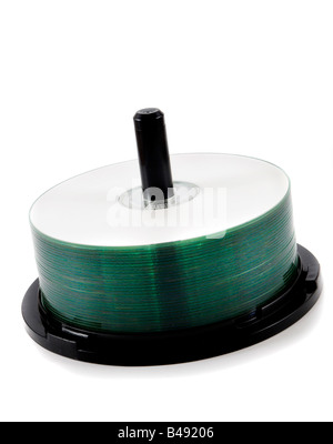 cds on spindle - Stock Photo