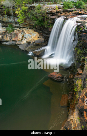 Little River Falls in Little River Canyon National Preserve Alabama - Stock Photo