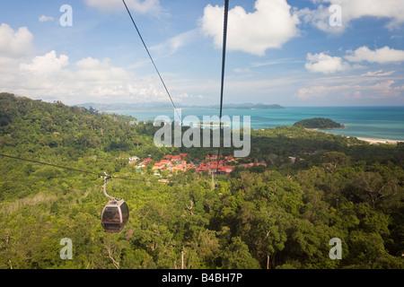 Asia, Malaysia, Langkawi Island, Pulau Langkawi, Langkawi cable car to the top of Mount Gunung Machinchang, 708m - Stock Photo
