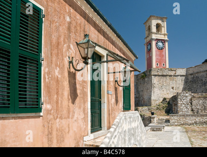 Inside The Old Fort in Corfu Town, Corfu, Greece, Europe - Stock Photo