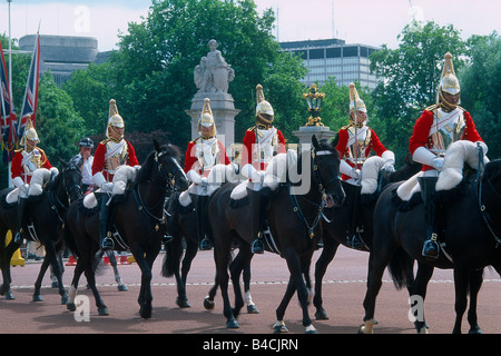Great Britain - London - St James's district - Buckingham Palace - changing of the guard - Stock Photo