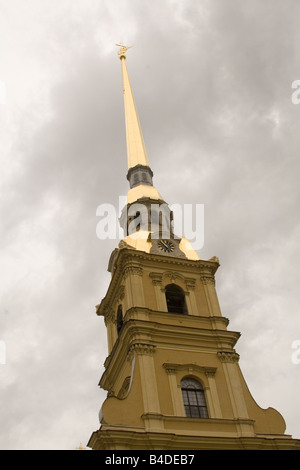 The Needle and Bell Tower of the Cathedral of SS Peter and Paul in St. Petersburg, Russia - Stock Photo