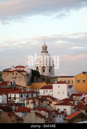 View over the rooftops of Alfama - Stock Photo