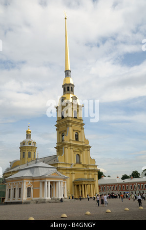 Cathedral of SS Peter and Paul, St. Petersburg, Russia - Stock Photo