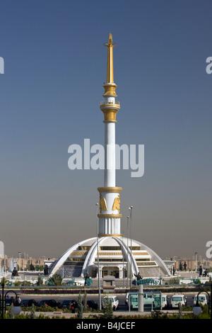 Independence monument, Ashgabat, Turkmenistan - Stock Photo